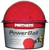 Mothers Powerball, large size for large surfaces. Turns that finger numbing chore, into an easy job.