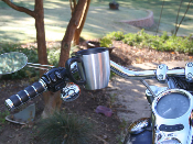 Kruzer Koffee Kaddy Model 1200 Handlebar Mount Fits 7/8, 1, and 1 1/4 inch bars Motorcycle and ATVs